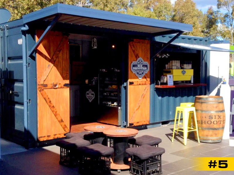 Six Shooter Container Coffee Shop