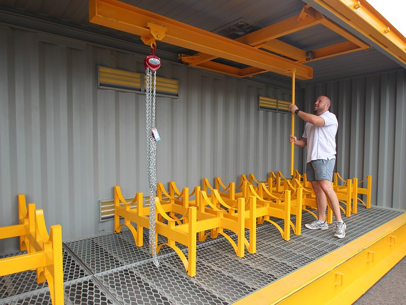 Dangerous Goods Container with Gantry System