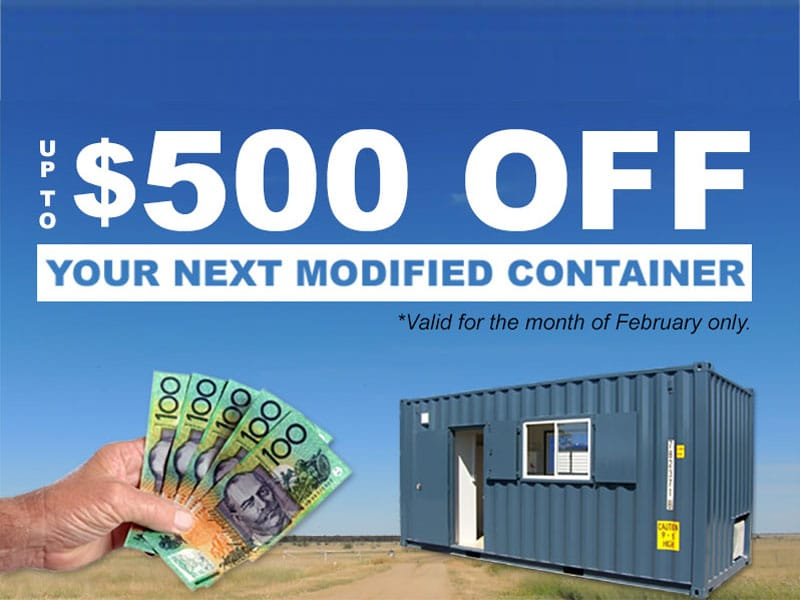 Save Hundreds on Modified Containers