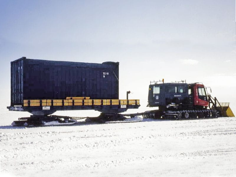 Port Shipping Containers built and delivered a container in Antarctica.