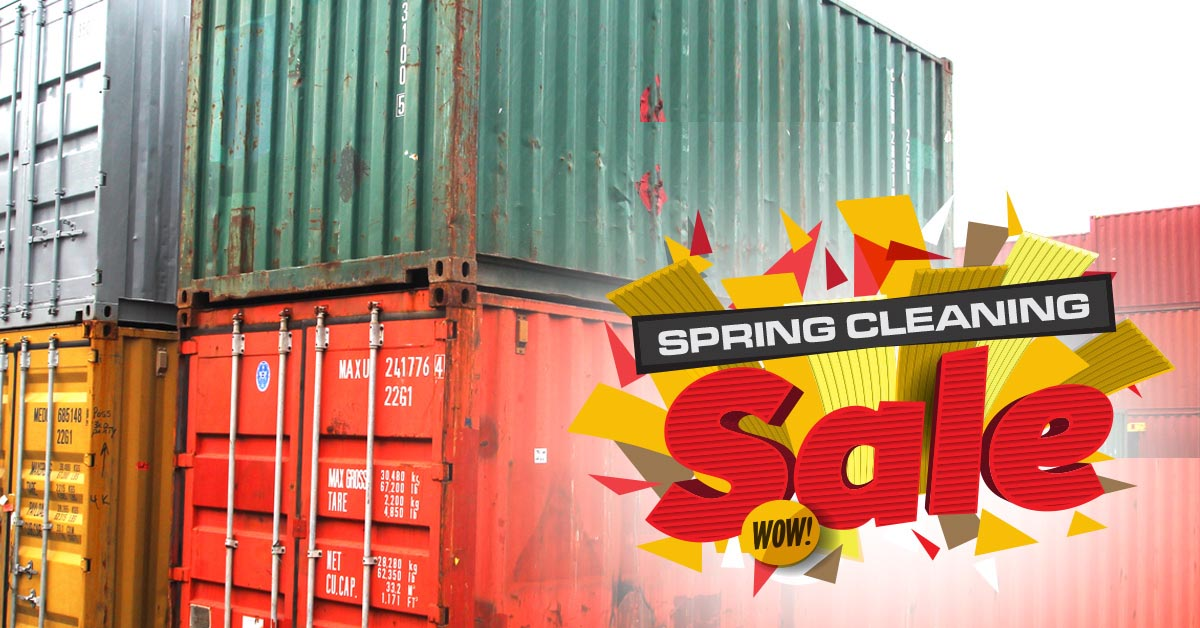 Spring Cleaning Container Sale