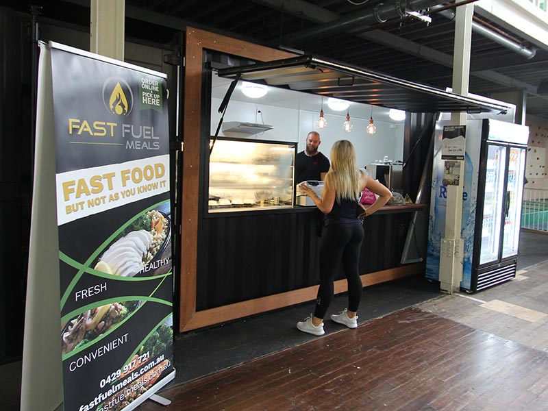 Fast Food Container Cafe