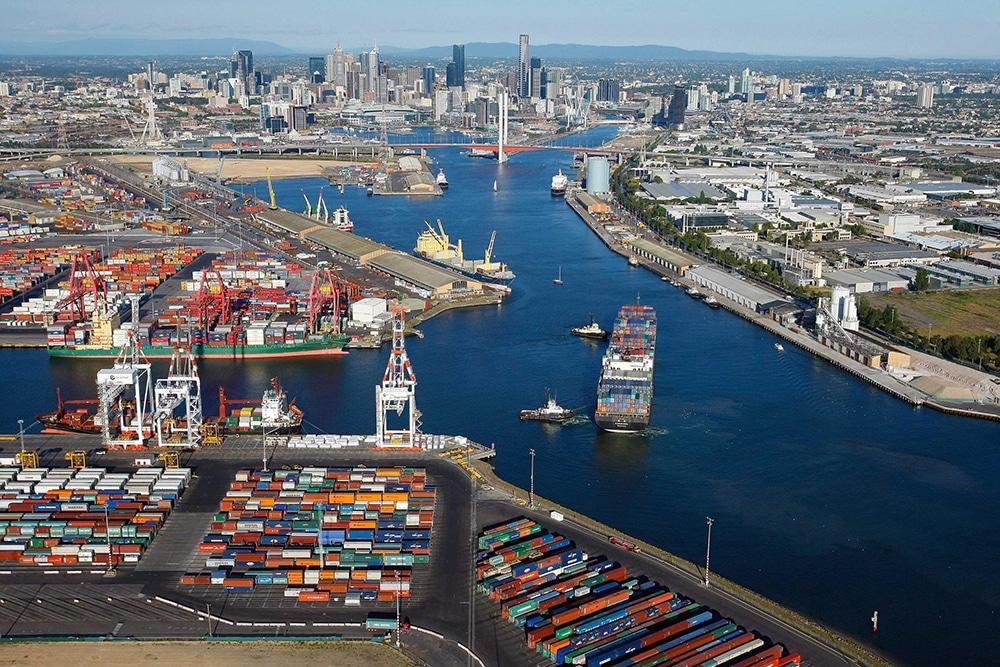Port-of-Melbourne-Aerial Shot