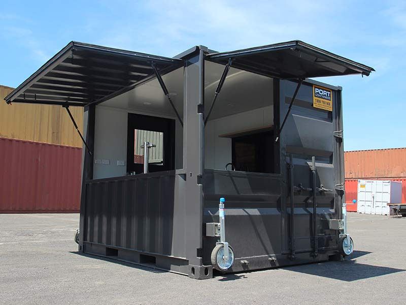 Portable Shipping Container Bar