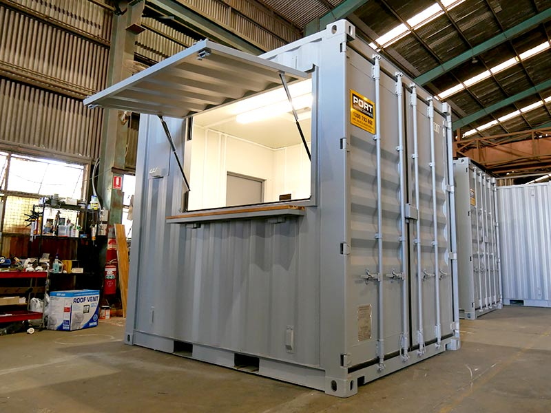 Ticket Booth built from Container