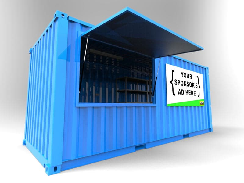 sPORTs Box Container Kiosk