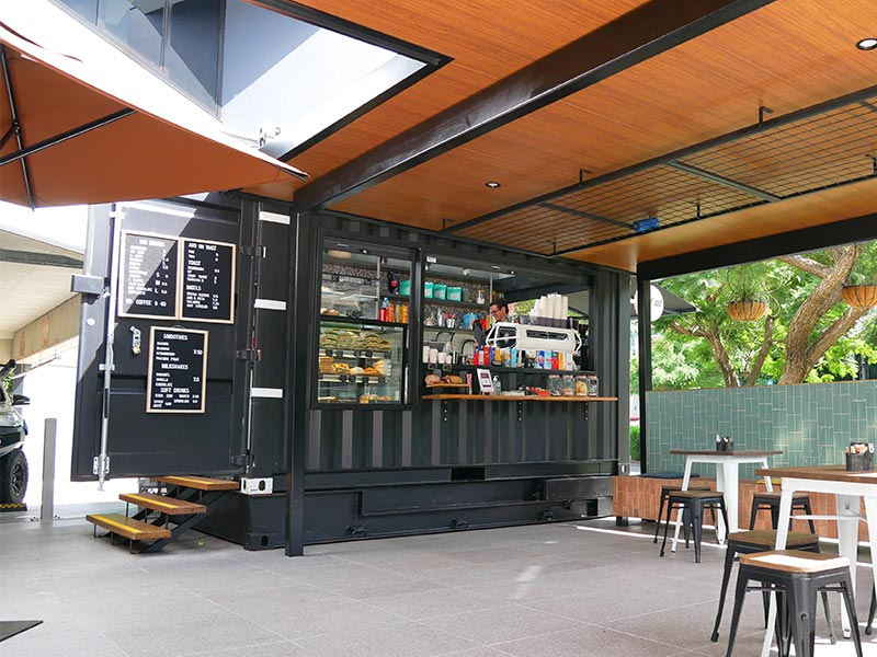 Chuffed Container Cafe Design