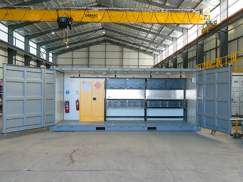 Side Opening Workshop Container